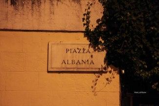 La place de l'Albanie, dans le centre de Rome.
